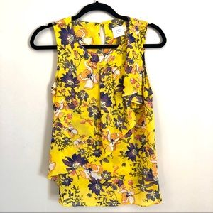Anthropologie HD in Paris yellow floral tank top 6
